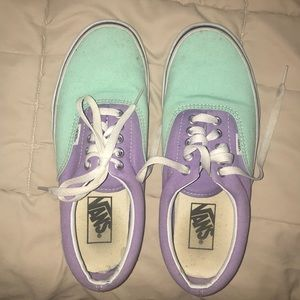Colorful Vans off the wall sneakers